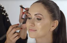 makeup on the faces of attractive faces