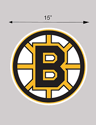 Amazon Com Bruins Vinyl Sticker Decal Hockey Cornhole Car Truck 15 Each Everything Else