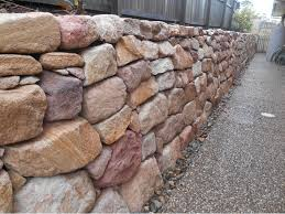 Australian Retaining Walls Hand placed & dry stacked sandstone ...