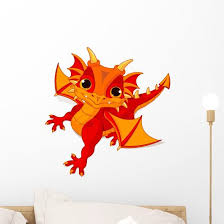 Baby Dragon Wall Decal Wallmonkeys Com