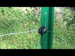 3 Installing Insulators On Posts For An Electric Fence Youtube