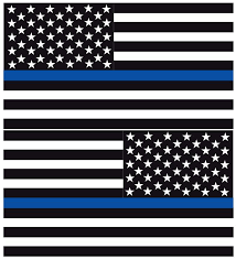 Thin Blue Line American Flags Reflective Window Decal Police Fire Ems Viny Graphics Stickers Decals Dkedecals