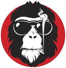 Cool Smoking Monkey Cartoon Icon Vinyl Decal Sticker