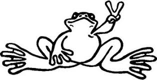 Peace Frog Vinyl Cut Decal
