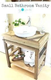 rustic bathroom vanity photo of top