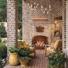 glowing outdoor fireplace ideas