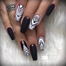 70 matte black coffin nail ideas trend