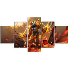 5panels Unframed Hd Digimon 1999 Wargreymon Angewomon Adventure Family Anime Printed Canvas Poster Canvas Modern Oil Art Painting Wall Decal Wish