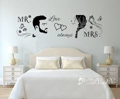 Mr And Mrs Wall Decal Mr Mrs Butterfly Floral Home Wall Decor Etsy