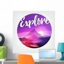 Purple Mountains Explore Wall Decal Wallmonkeys Com