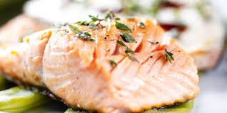 slow baked salmon with lemon and thyme