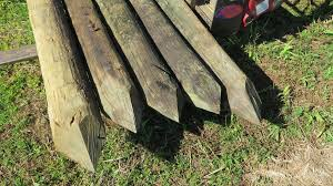 Qty 20 Large Pointed Wooden Fence Posts 8 L 8 To 9 Dia Oahu Auctions