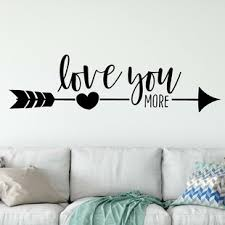 I Love You More Wall Decal Wayfair