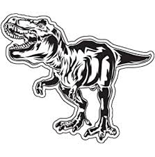 Amazon Com Js Artworks Dinosaur Trex T Rex Tyrannosaurus Rex Vinyl Decal Sticker Black Automotive