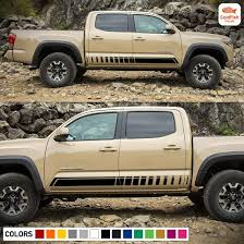 Amazon Com Gold Fish Decals Set Of Sport Side Door Bed Stripes Decal Sticker Vinyl Compatible With Toyota Tacoma Double Cab Automotive