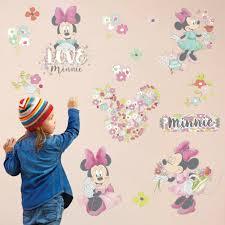 Kids Room Baby Decorate Wallpaper Princess Girls Bedroom Minnie Mouse Decals Art Ebay