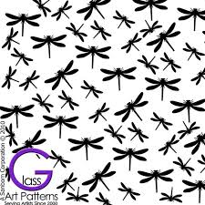 Dragonfly Black Enamel Or Gold Fused Glass Decal Go Fusing