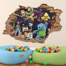 New Toy Story 3d Wall Decal Wall Sticker Woody Buzz Etsy