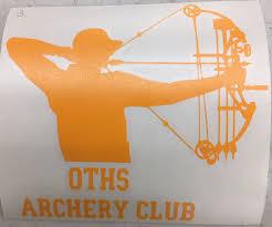 Archery Club Truck Car Window Decals 5 Each
