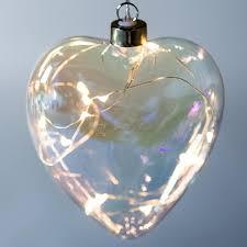 stellar haus clear pearl heart hanging