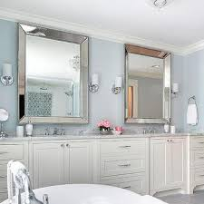 silver lear beveled beaded mirror