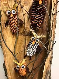 owl / cones / szyszki / sowy / sówki / jesienne dekoracje ...