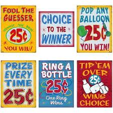 Carnival Midway Games Of Chance Wall Decal Set At Retro Planet