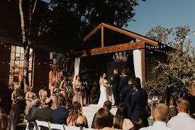 soda district courtyard wedding in