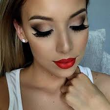 red dress eye makeup cat eye makeup
