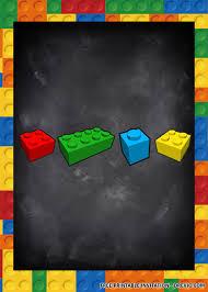 Free Printable Lego Invitation Templates Invitaciones De Fiesta