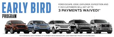 ford early bird program early lease