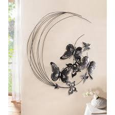 Unbranded 31 5 In X 27 6 In Metal Flying Butterfly With Swirls Wall Art Hd229088 P The Home Depot