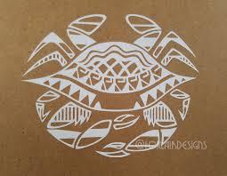 Crab Vinyl Car Decal Tribal Tattoo Filipino Ocean Sealife Sea Etsy Filipino Tribal Filipino Tribal Tattoo Filipino Tattoos