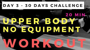 no equipment upper body workout
