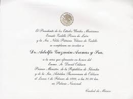 Invitacion A Cenar Con El Presidente Con Motivo De La Visita Del