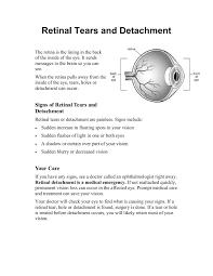 retinal tears and detachment health