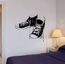Wall Decal Sneakers Shoes Melted Youth Vinyl Sticker Ed2018 Wallstickers4you