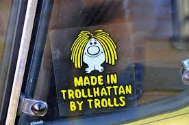 Saab Made In Trollhattan By Trolls Stickers