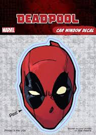 Deadpool Mask Marvel Comics Car Window Decal