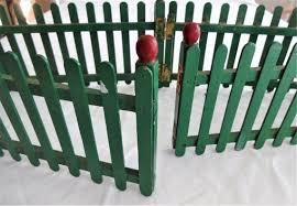 Vintage Popsicle Stick Christmas Tree Fence Etsy