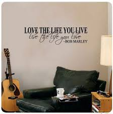 Bob Marley Love Life Quote Wall Decal Sold By The Guest House On Storenvy