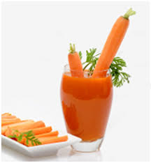 orange carrot and cuber juice