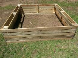 raised garden bed i made out of pallet