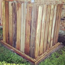 Fence Boards Can Make A Great Cover For An Ac Unit Or To Hide Your Garbage Cans Old Fence Boards Fence Design Old Fences