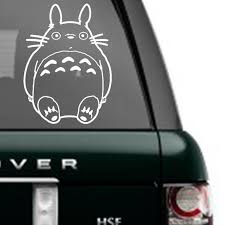 Cute Totoro Decal Sticker Buy 3 Get 1 Free Great For Any Flat Surface Cartoon Macbook Laptop Car Racing Totoro Decals Stickers Studio Ghibli