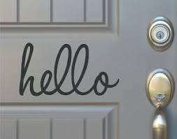 Hello Front Door Home Vinyl Decal Sticker Sign Ebay