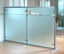 floor mounted office divider glass