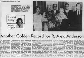 15 Nov 1969 Honolulu Star Bulletin - 50th Anniversary R Alex ...