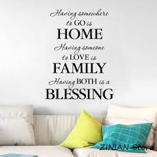 Home Quote Wall Stickers Home Decor Living Room Vinyl Wall Decals Family Quotes Entry Way Blessing Decal For Bedroom Mural Z072 Wall Stickers Aliexpress
