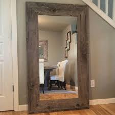 reclaimed wood full length mirror